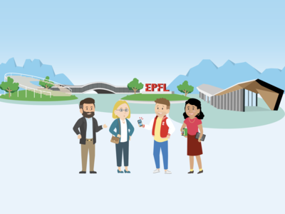 EPFL 50th Anniversary illustration for DHI