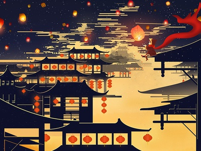 The background illustration is used during the Spring Festival