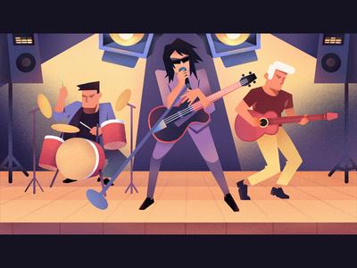Rock band🤘  |  Illustration
