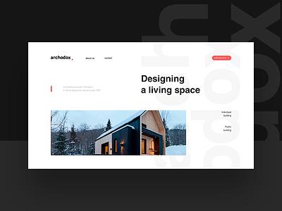 Website for Arhodox webdesign web website fullscreen desktop