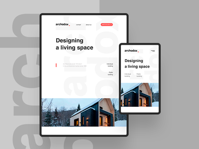 Website for Arhodox website web design web fullscreen tablet mobile