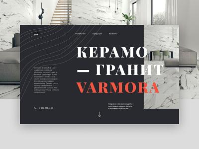 Varmora clean typography main page web design minimal desktop website web fullscreen