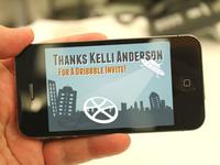 Thanks Kelli Anderson for a Dribbble Invite!