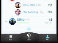 iPhone bottom bar menu