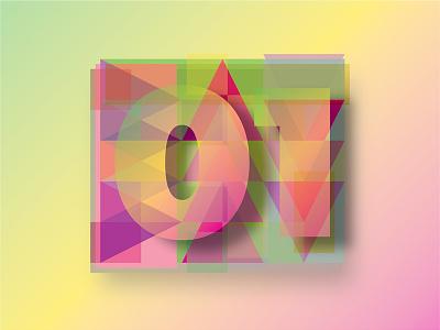 Colour + shape experiment 1 design vector gradient color playtime fun experiment shape colour