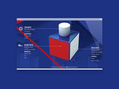 Lacoste L!VE Interface interface ui website web design digital urban red blue bottle angles