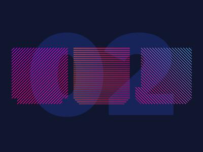Colour + shape experiment 2 gradient color vector logo design playtime fun branding experiment shape colour