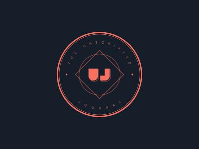 Unscripted Journal Logo graphic  design vector branding logomark logo design