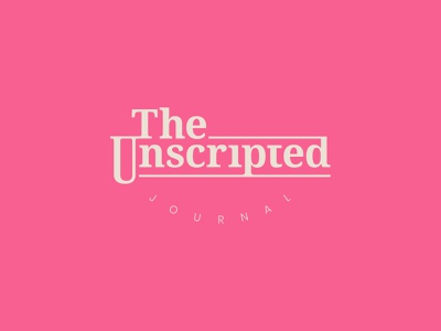 Unscripted Journal Logo (Part 2) graphic design color branding typography vector logo design