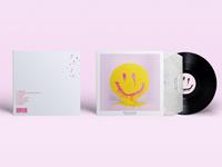 "Vinyl Cover for Billie Eilish Album ""dont smile at me"""