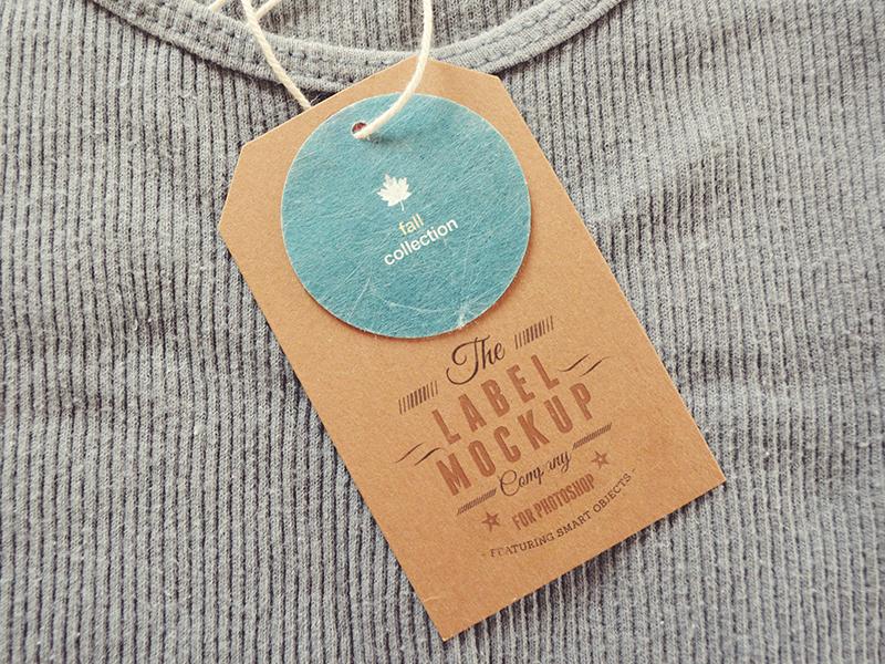 Labels Mockup labels tags mock-ups logo showcase clothes