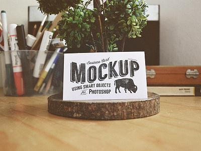 Business Card Mock-Up Freebie business card mock-up freebie showcase presentation psd free photoshop template