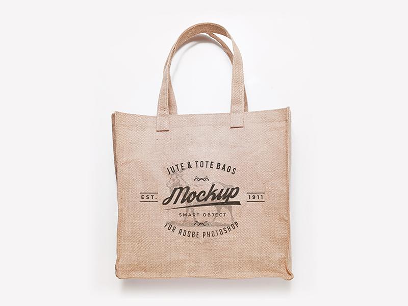 Jute Bag Mock Up PSD Freebie jute bag eco bag mockup mock up psd freebie