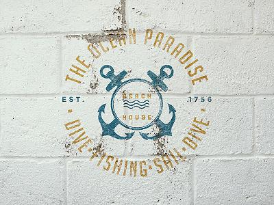 Cracked Paint Logo Mockup paint wall cracked resource photoshop mockup logo