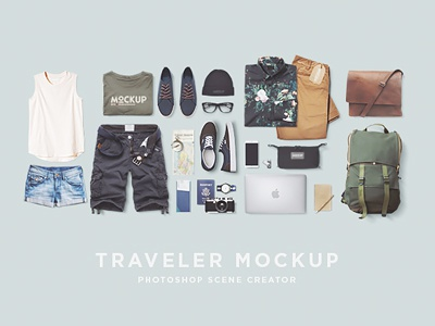 Traveler Mockup PSD Freebie psd file photoshop vacations travel fashion freebie mockup traveler