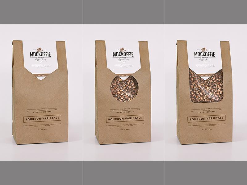 Coffee Bag Mockup package template mockup bag coffee