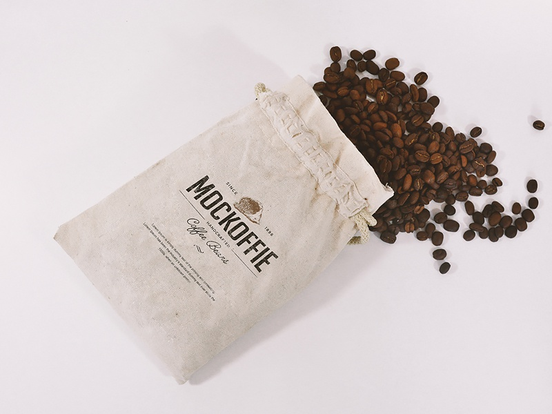 Coffee Jute Bag Mockup template jute mockup bag coffee