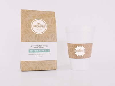 Coffee Bag and Cup Mockup cup package template mockup bag coffee