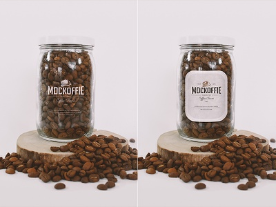 Coffee Glass Jar Mockup package template mockup jar glass coffee