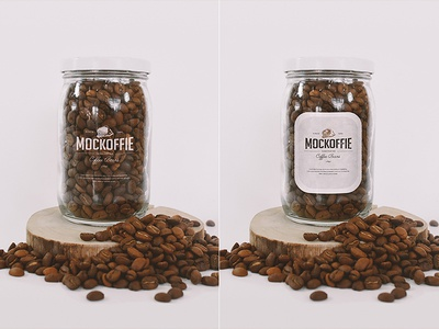 Coffee Glass Jar Mockup package template mockup jar glass coffee