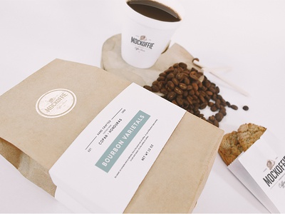 Coffee Scene Mockup cup package template mockup bag coffee