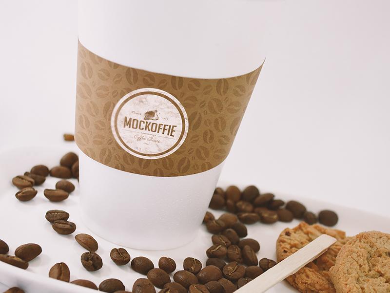 Coffee Cup Sleeve Mockup mockup holder sleeve cup coffee