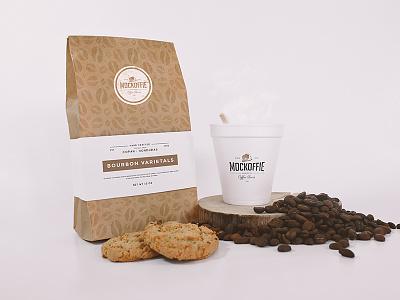 Coffee Bag and Cup Mockup cookies cup package template mockup bag coffee