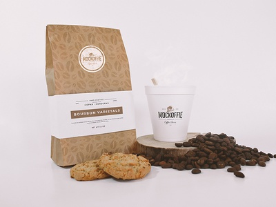 Coffee Bag and Cup Mockup cookies cup package template mockup bag coffee