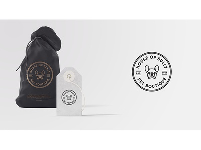 House of Bully Logo boutique pet french bulldog bully design logo