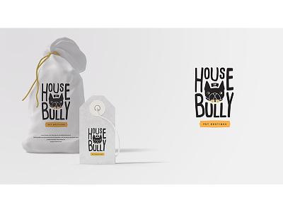 House of Bully Logo boutique pet french bulldog bully design logo