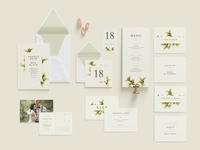 Wedding Invitation Green Foliage