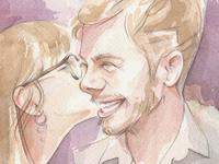 Watercolors, Tracy & Jacob
