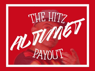 Altimet Payout hipster hiphop white altimet hitzfm red poster