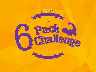 6paxchallenge logo design hitzfm 6 pack