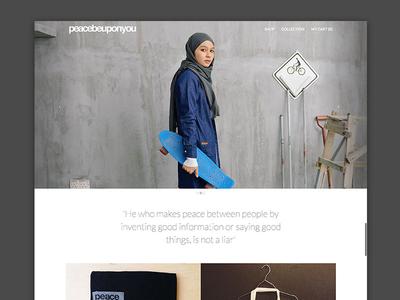 PeaceBeUponYou minimalist white black pbuy website mock
