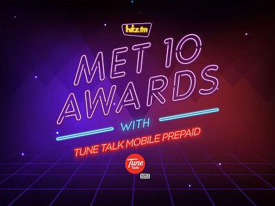 Met10 Awards with Tunetalk   award red purple hitz fm met10