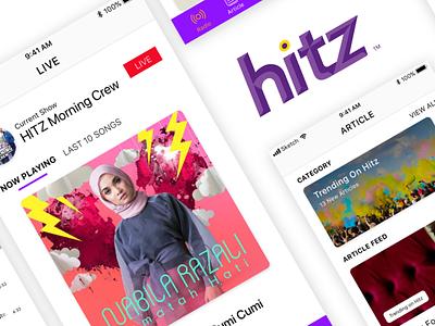 HITZ Streaming App ui white purple handsome app radio astroradio hitz