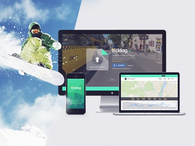 Trcklog.com  android ios responsive design app branding ui ux