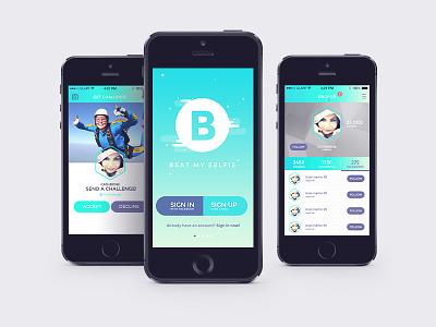 Beat my selfie app ios design digital branding ux ui