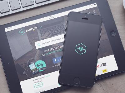 Samplify.net responsive ipad ios app ux ui