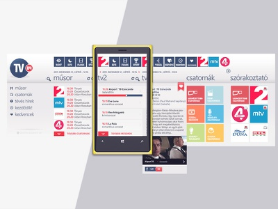 Tv24 mobile app windows phone digital design app ux ui