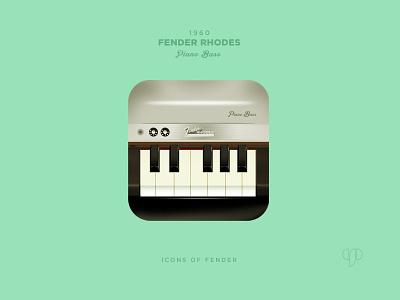Fender Rhodes app icon digital design ui icon design ios app icon