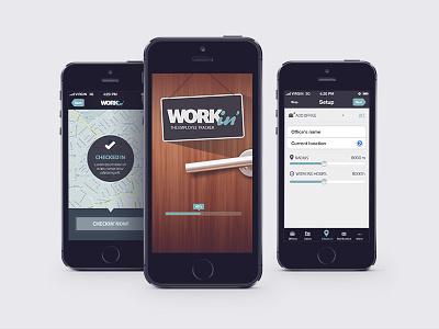 Workin' employee tracker branding app design ui ux