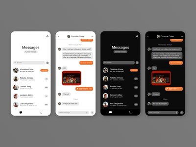 Daily UI #013 — Direct Messaging messaging app daily ui 013 daily ui 13 messenger imessage messaging texting direct messaging daily ux ui mobile daily ui app thano ysdn