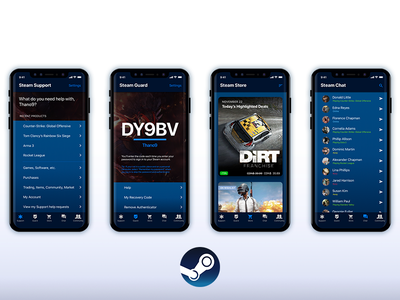 Steam Mobile Redesign ios 11 app redesign steam app steam mobile redesign ysdn athanasios thano refresh redesign mobile app steam