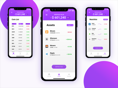 Apollo - Cryptocurrency Portfolio ysdn mobile app cryptocurrency-portfolio ethereum ripple bitcoin cryptocurrency