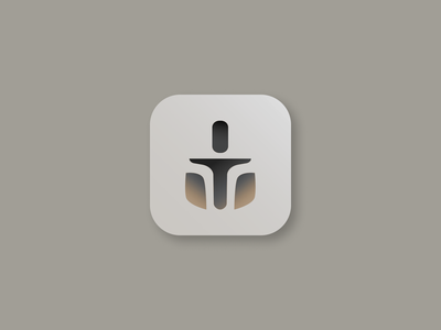 Daily UI #005 — App Icon daily daily ui helmet sci fi ysdn thano logo icon iconography icon design star wars icon mandalorian star wars