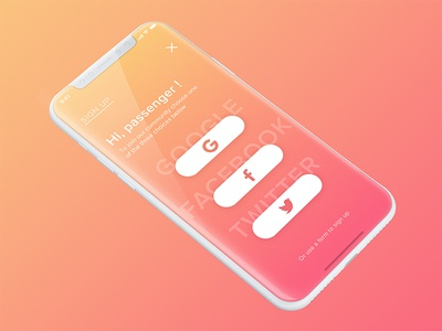 Sign up - Concept
