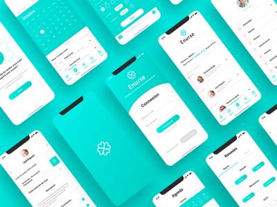 UX/UI Concept - Enurse mobile app