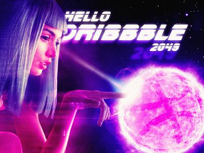 Hello Dribbble 2049 blade runner 2049 hello dribbble debut hello